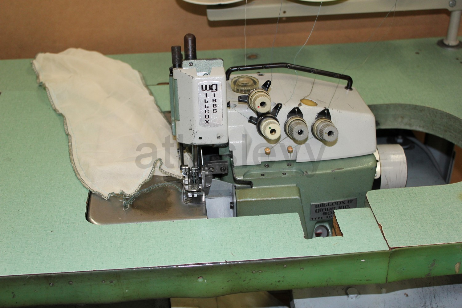 Willcox Amp Gibbs 500 4 Overlock Sewing Machine 6 Thread Tag