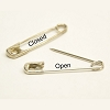 Steel, nickel Plated Safety pins - 10 Gross #1  |  Open or closed