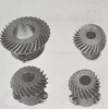 Top and Bottom Gears for juki 555 B-1306-155-0C0
