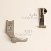 Foot set for  Knurled Walking machine Inside and outside feet set S513 S512