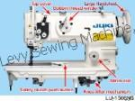 JUKI LU-1508NS 1-needle, Unison-feed, Lockstitch Machine with Vertical-axis Large Hook