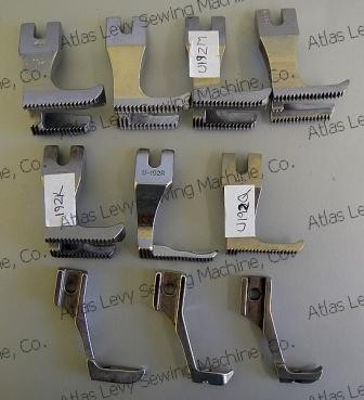 Pack of presser feet for Mitsubishi and Nakajima walking foot sewing machines