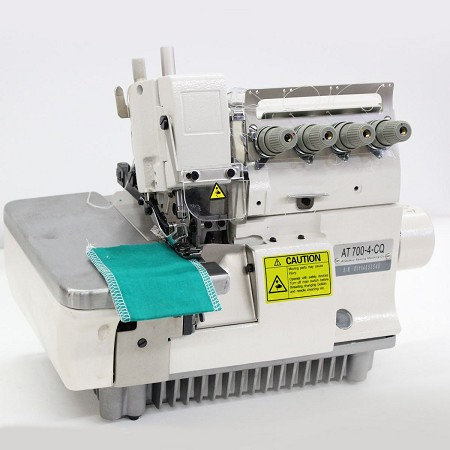 Overlock with automatic air draft and thread trimmer device Atlas USA AT700-4-CQ