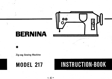 Bernina 217 Instruction book