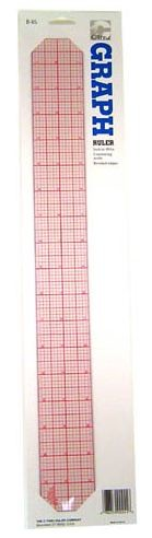 "C-THRU 18"" GRAPH BEVELED RULER 8THS"
