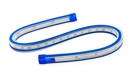 "C-THRU CALIBRATED FLEXIBLE CURVE 12""/30CM PLASTIC"