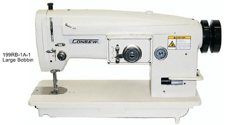 Consew 199R-1A-1 Drop Feed, Zig Zag Sewing Machine (Head Only)